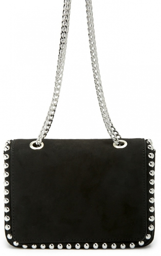 Forever21 Forever 21 Faux Suede Studded Black Shoulder Bag