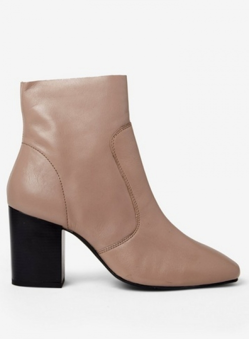 Dorothy Perkins Nude Putty 'Abstract' Leather Ankle Boot