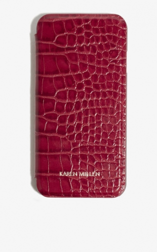 Karen Millen Croc-Effect IPhone Case