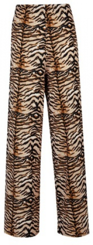 Dorothy Perkins Brown Tiger Print Interlock Twist Yarn Palazzo Trousers Trouser