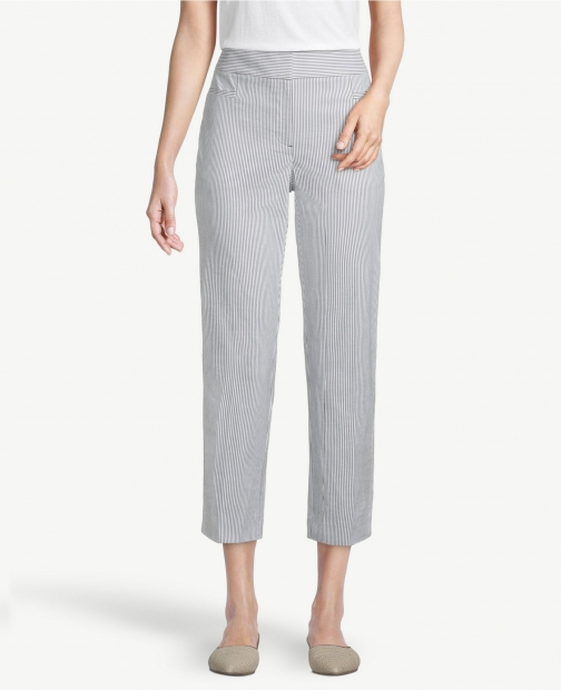 Ann Taylor Factory Seersucker Crop Pants Trouser