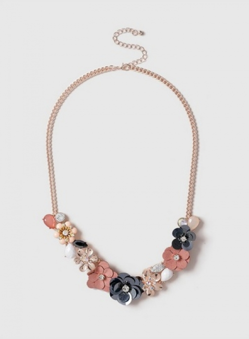 Dorothy Perkins Pastel Mix Flower Collar Necklace