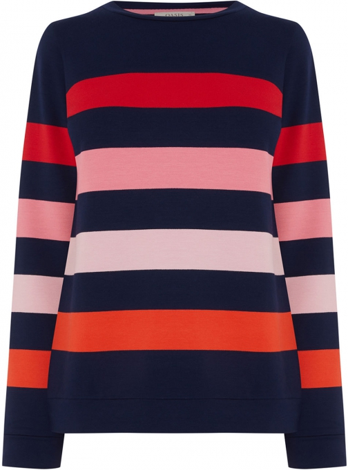 Oasis COLOURFUL STRIPE SWEAT Sweatshirt