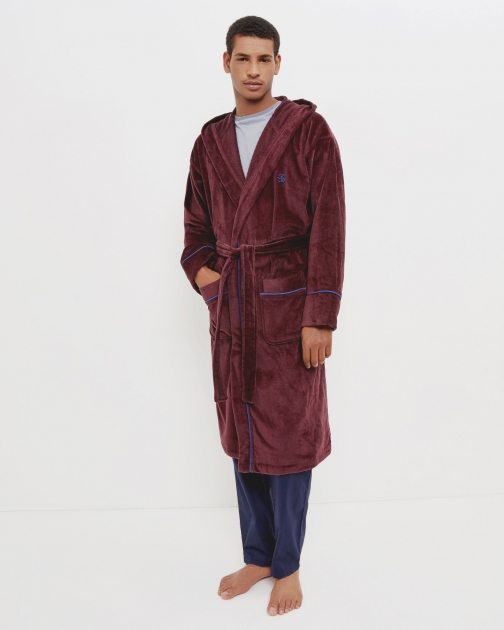 Ted Baker Cotton Oxblood Dressing Gown