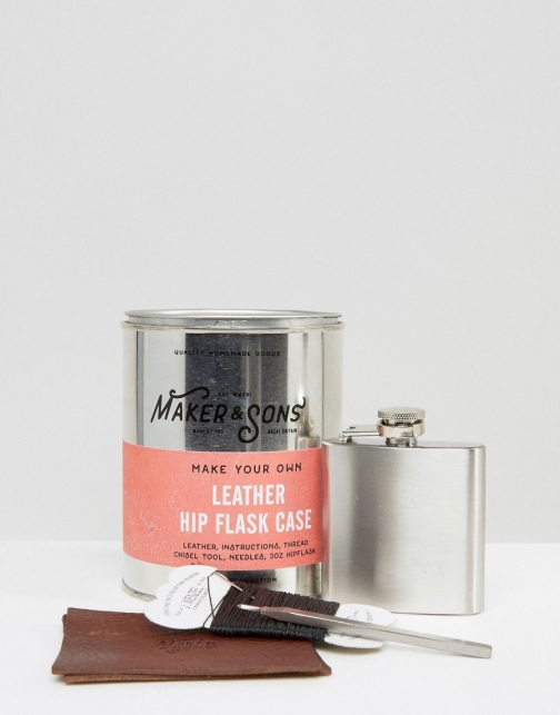 Asos Men's Society Make Your Own Leather Hipflask Case