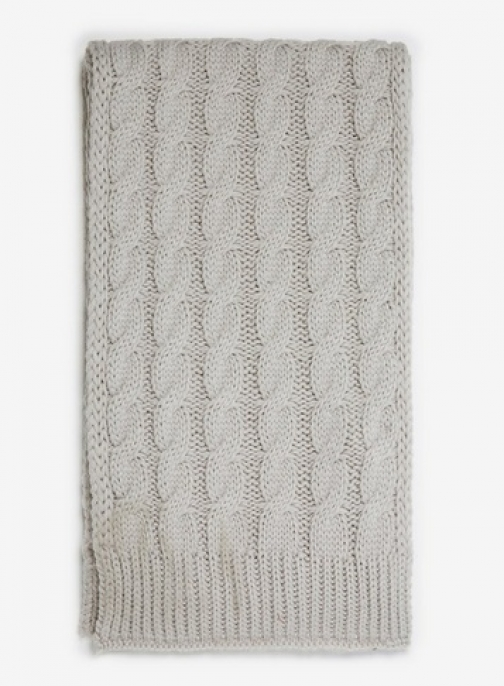 Dorothy Perkins Womens Grey Cable Knit - Grey, Grey Scarf