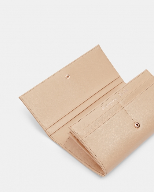 Ted Baker Bow Flap Leather Purse