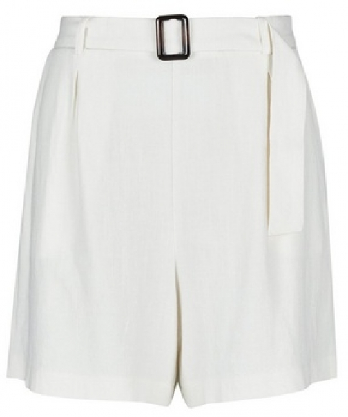 Dorothy Perkins Ivory Linen Look With Horn Buckle Short