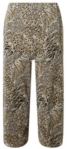 Dorothy Perkins Multi Colour Leopard Print Plisse Cropped Trouser