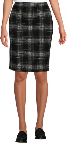 Lands' End Women's Petite Sport Knit - Lands' End - Black - XS Pencil Skirt