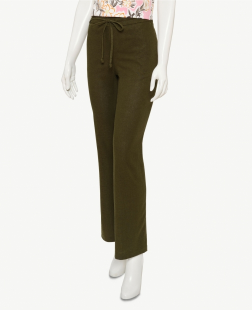 Oasis Linen Blend Drawstring Pants Trouser