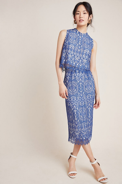 Anthropologie Christianna Lace Pencil Skirt