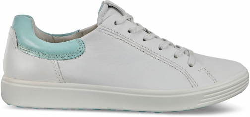 Ecco Soft 7 Womens Street Sneaker Size 4 Eggshell Blue Droid Trainer