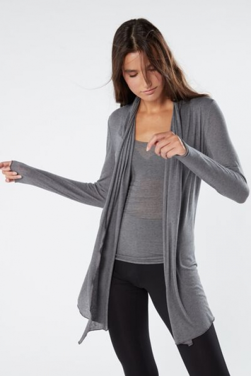 Intimissimi Long Cashmere Ultralight Woman Dark Grey Size S Cardigan