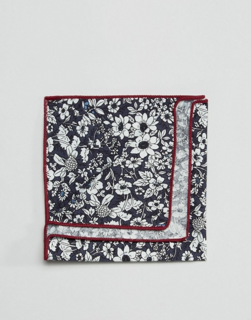 Asos 7X Floral Print Box Pocket Square