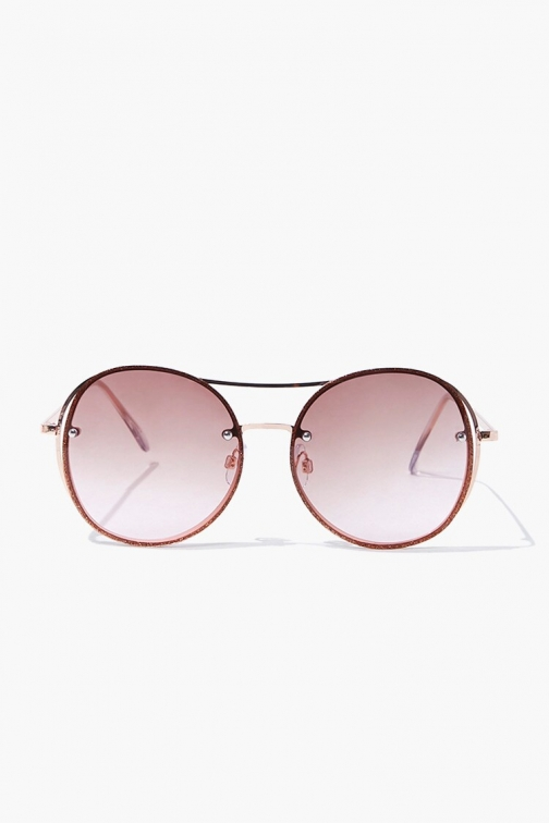 Forever21 Forever 21 Round Tinted Metal , Gold/multi Sunglasses