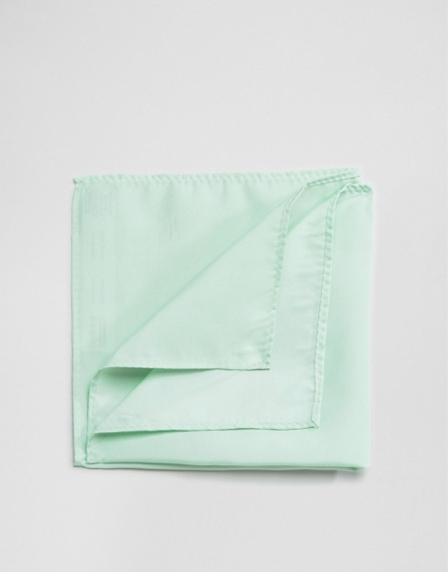 Asos WEDDING Pale Green Pocket Square