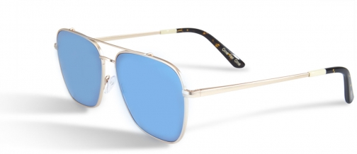 Toms Irwin 201 Satin Gold With Brown Gradient Lens Sunglasses