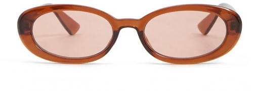 Forever21 Forever 21 Solid Oval Brown/brown Sunglasses