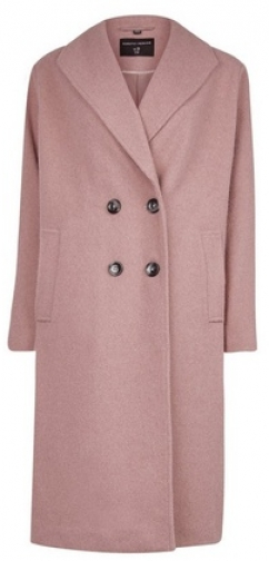 Dorothy Perkins Pink Double Breasted Coat Jacket