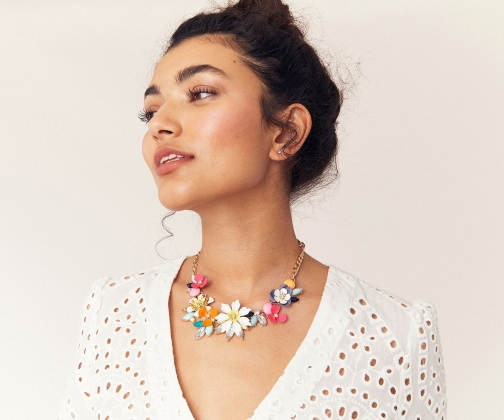 Oasis Tropical Flower Necklace