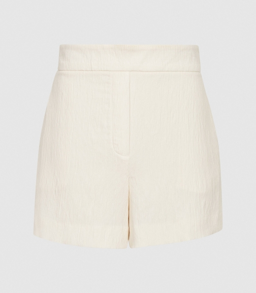 Reiss Lana - Textured Tailored White, Womens, Size 4 Short