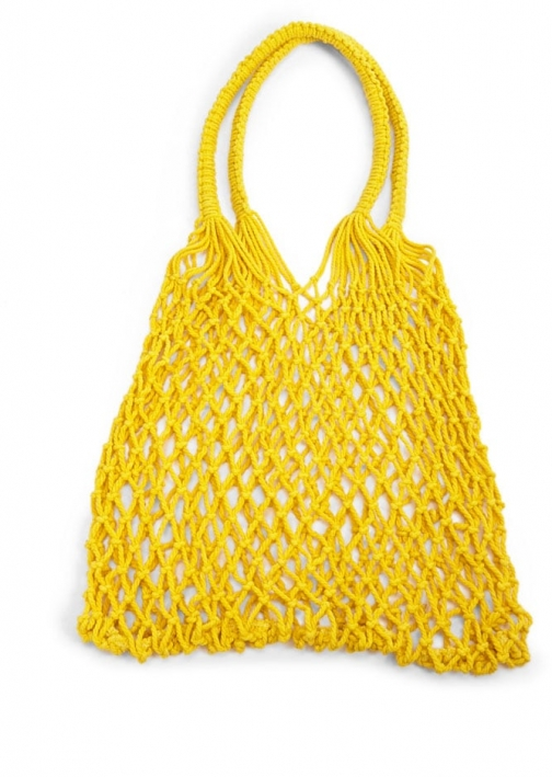Forever21 Forever 21 Netted , Yellow Shoulder Bag