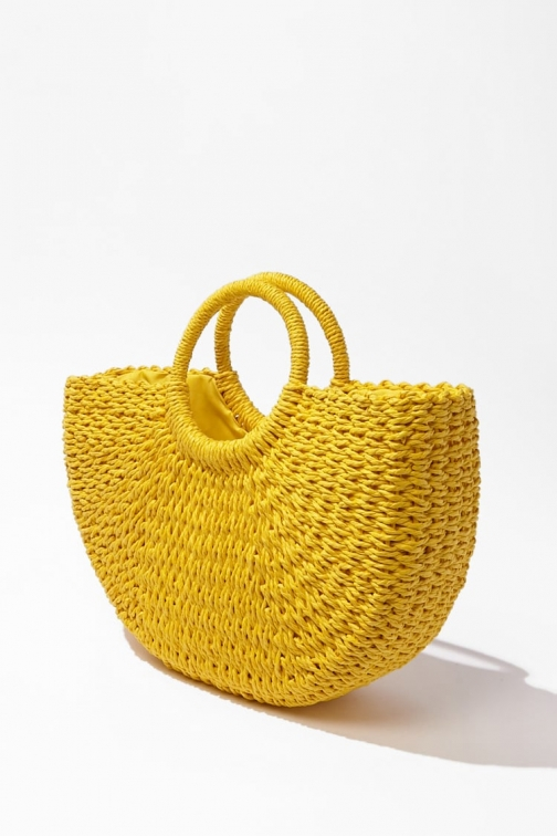 Forever21 Forever 21 Wicker Bag , Yellow Tote