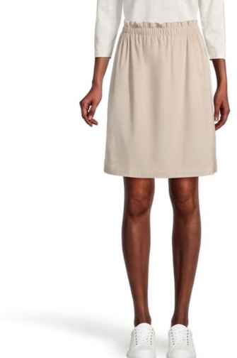 Loft Petite Faux Suede Pull On Skirt