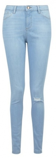 Dorothy Perkins Tall Lovely Blue 'Darcy' Skinny Ankle Grazer Jeans