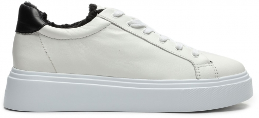 Schutz Shoes Kristin Leather Sneaker - 5 White Leather Trainer