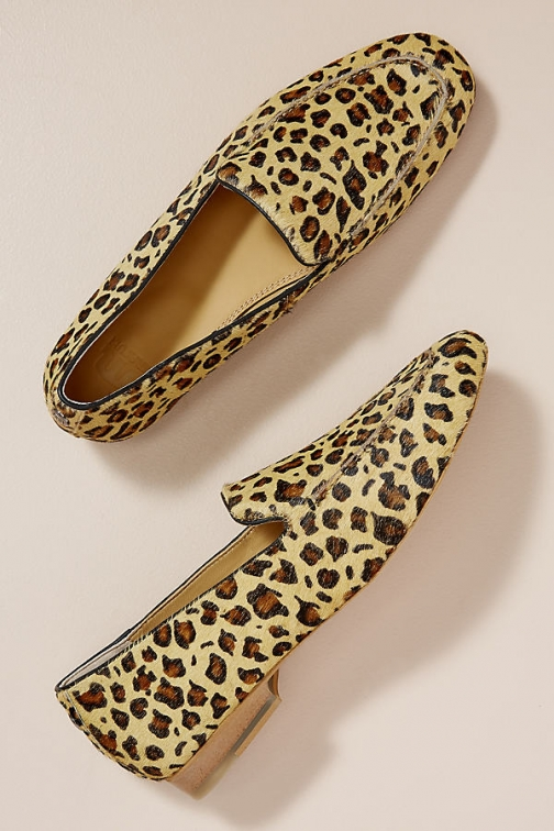 Maruti Leopard-Print Loafers Shoes