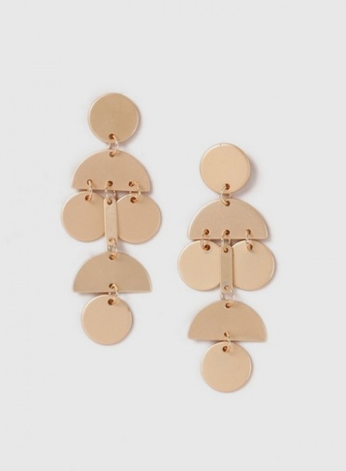 Dorothy Perkins Womens Shape Drop - Gold, Gold Earring