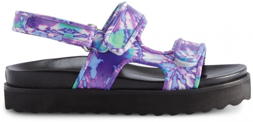 Schutz Shoes Dariana Flat Sandal - 6 Purple Multi Leather Sandals