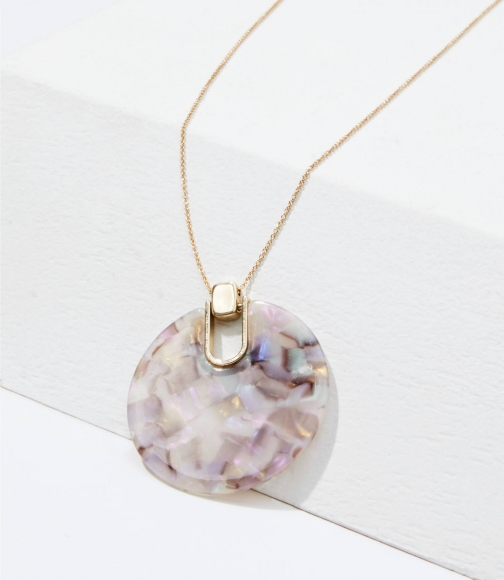Loft Shimmer Resin Pendant Necklace