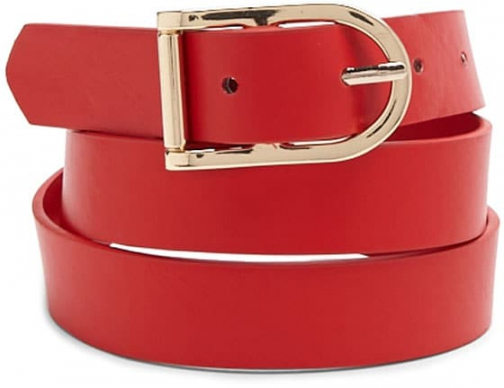 Forever21 Forever 21 Faux Leather Buckle Red Belt