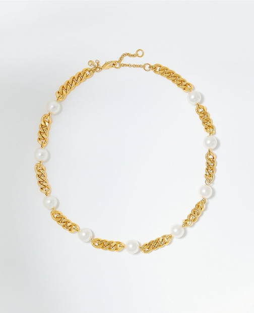 Ann Taylor Pearlized Chain Necklace