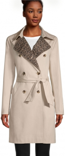 Ann Taylor Factory Leopard Print Trench Coat