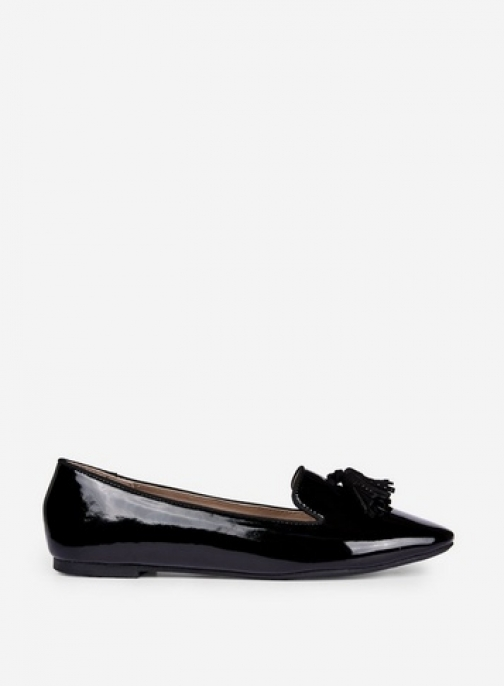 Dorothy Perkins Wide Fit Black 'Petal' Loafers Shoes