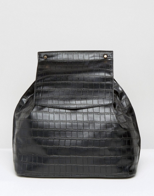 Missguided Croc Effect Backpack