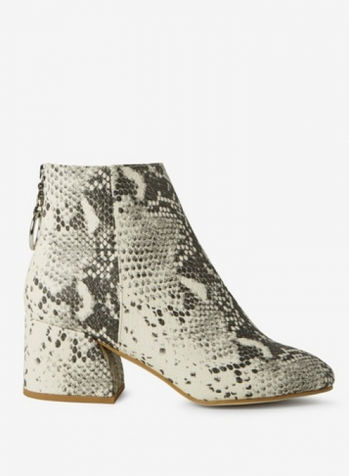 Dorothy Perkins Womens Wide Fit Multi Coloured Snake Print 'Adore' - Animal, Animal Ankle Boot