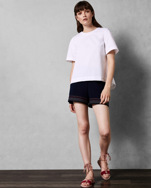 Ted Baker Stitch Detail Short