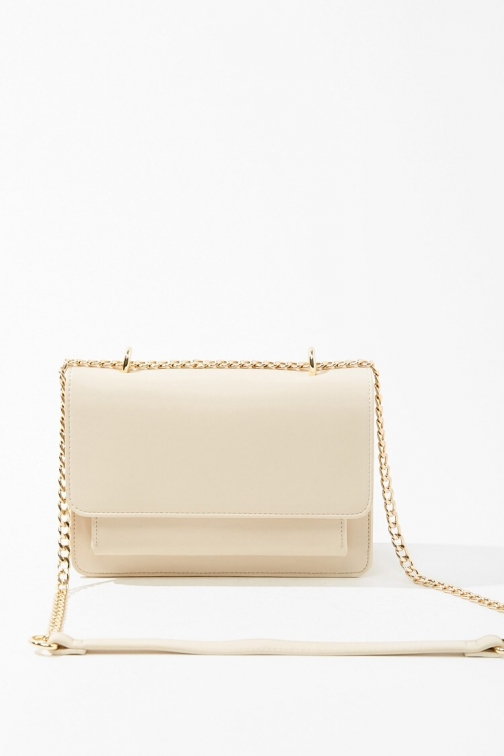 Forever21 Forever 21 Curb Chain , Taupe Crossbody Bag