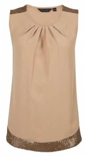 Dorothy Perkins Taupe Sequin Sleeveless Top