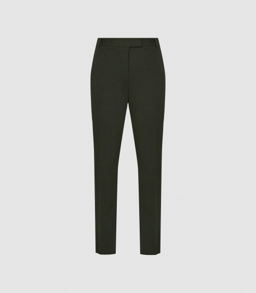 Reiss Joanne - Slim Fit Forest Green, Womens, Size 4 Tailored Trouser