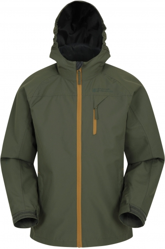 Mountain Warehouse Trail Kids Extreme Waterproof - Green Jacket
