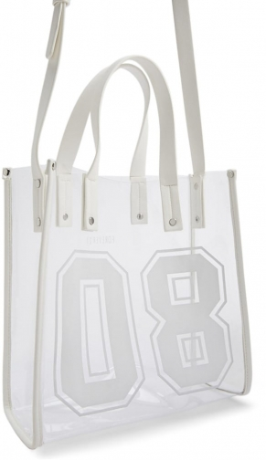 Forever21 Forever 21 08 Graphic Transparent Bag , White Tote