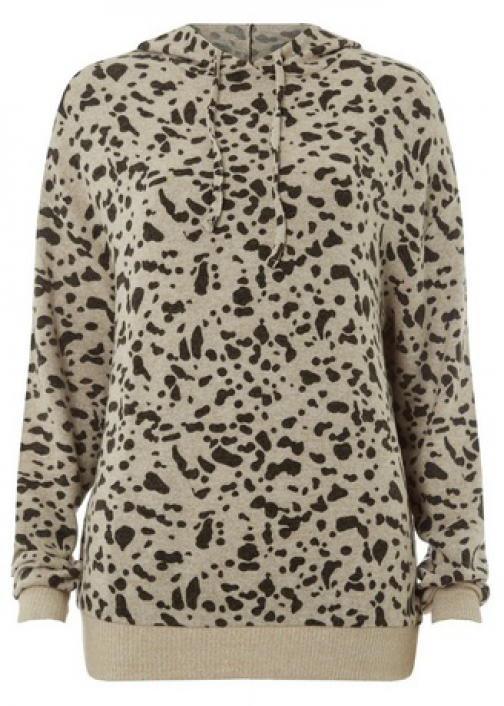 Dorothy Perkins Tall Multi Colour Brushed Leopard Print Hoodie