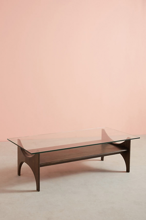 Anthropologie Panorama Display Coffee Table - Grey Accessorie