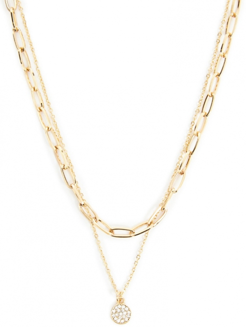 Forever21 Forever 21 Chain-Link Necklace Set , Gold Jewellery